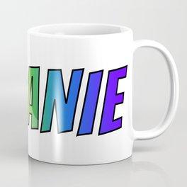 """MELANIE"" First Name Rainbow Spectrum Gradient Colors Pattern Coffee Mug"