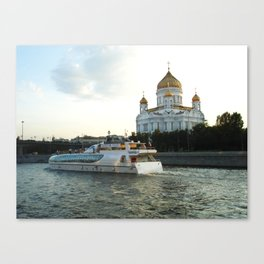 The Cathedral of Christ the Savior in Moscow Canvas Print