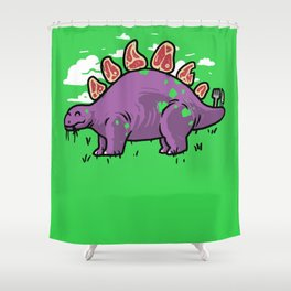 Steakosaurus Shower Curtain