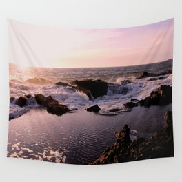 Thor's Well at Sunset Wall Tapestry