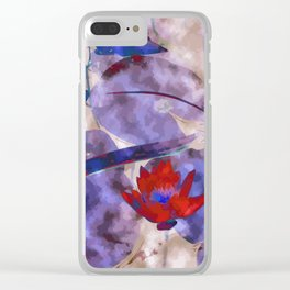 Waterlily Dreaming - Vermillion Clear iPhone Case
