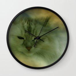 vanilli - the cat Wall Clock