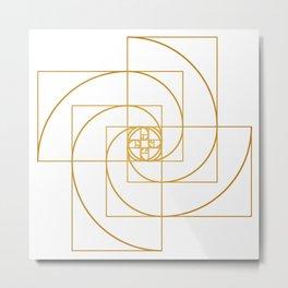 Golden Pinwheel Metal Print