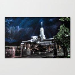 Mt. Timpanogos LDS Temple - Dreamscape Canvas Print