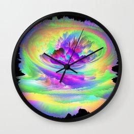 Color Storm Wall Clock