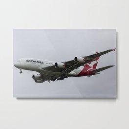 Qantas Airbus A380 Metal Print