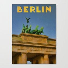 BERLIN Travel Art Poster Brandenberg Gate Canvas Print