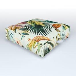 Botanical jungle bouquets Outdoor Floor Cushion