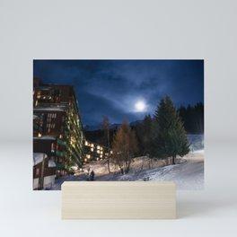 Night in the mountains Mini Art Print