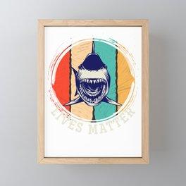 Shark Lives Matter Framed Mini Art Print