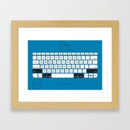 Photoshop Keyboard Shortcuts Blue Opt+Shift+Cmd Framed Art Print