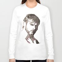 charlie brown Long Sleeve T-shirts featuring Charlie Watercolour by Sophie Brown Art
