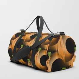 Artistic Halloween with Minimalist Fractal Abstract Mask Duffle Bag