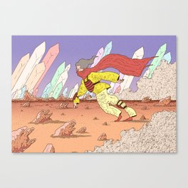 Return against the wind Canvas Print