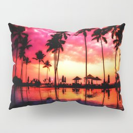 Palm Trees Sunset Pillow Sham