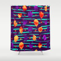psychadelic Shower Curtains featuring Psychadelic Natural Pattern #3 by Andrej Balaz