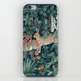 William Morris Forest Rabbits and Foxglove iPhone Skin