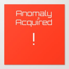 anomaly acquired 001 Canvas Print