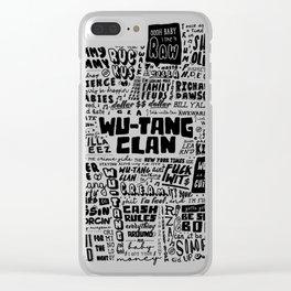 Rap lyrics print Clear iPhone Case