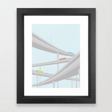 MOTORVEJSKRYDS Framed Art Print