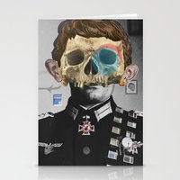 justin timberlake Stationery Cards featuring War Collage 2 by Marko Köppe