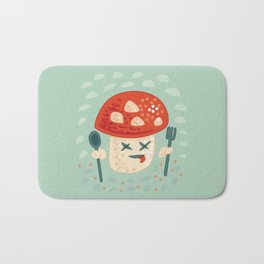 Funny Cartoon Poisoned Mushroom Bath Mat