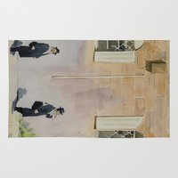 jewish Area & Throw Rugs featuring Jewish Quarter by Andrey Esionov