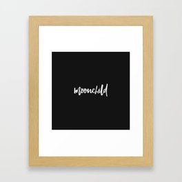 moonchild - black Framed Art Print