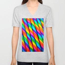 Rainbow Candy : Candy Canes Unisex V-Neck