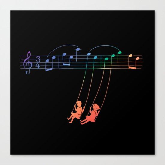 Music Swing Canvas Print