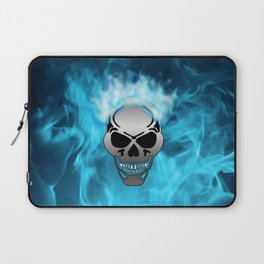 Flaming Skull Laptop Sleeve