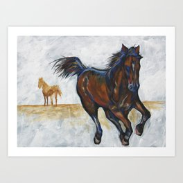 Study of horse(s) Art Print