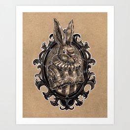 Rabbit Portrait Art Print
