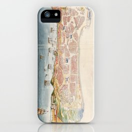 Vintage Pictorial Map of Macau China (1665) iPhone Case