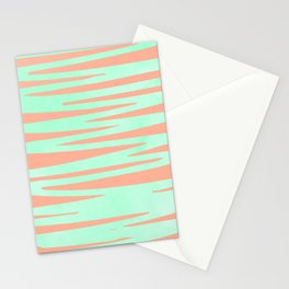 Sweet Life Soft Serve Peach Coral + Mint Meringue Stationery Cards