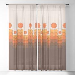 Golden Blooms Sheer Curtain