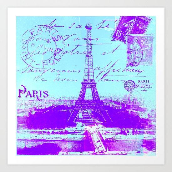Paris vintage Art Print