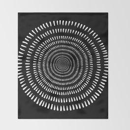 Fjorn black Throw Blanket