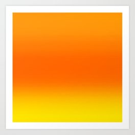 Sunset Ombre Abstract Art Print