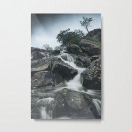 Snowdonia Waterfall Metal Print