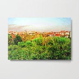 Catanzaro: green and buildings Metal Print