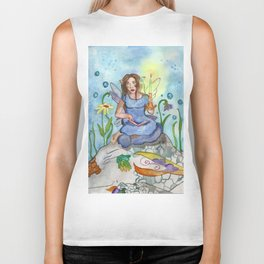 Last Candle (Fairy and the Dragon) Biker Tank