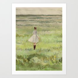 sometimes green is the only color you need. Art Print