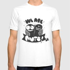 We are nuts! Mens Fitted Tee White SMALL