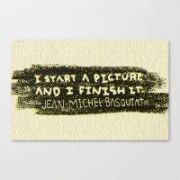basquiat Canvas Prints featuring BASQUIAT by Josh LaFayette