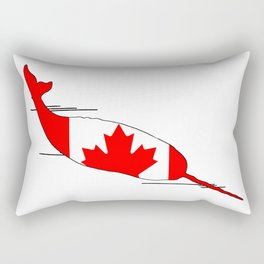 """Narwhal """"Canada"""" Rectangular Pillow"""