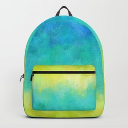 Sunflower and Ice Abstract Backpack