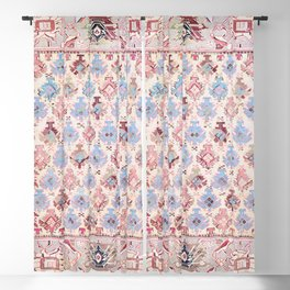 North Indian Dhurrie Kilim Print Blackout Curtain