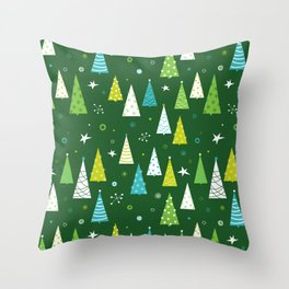 Christmas Forest Throw Pillow