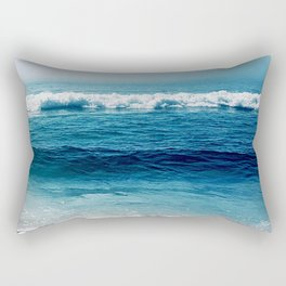 aqua foamy sea Rectangular Pillow